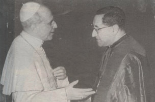 Pope Pius XII with his hand picked successor Cardinal Siri 1958